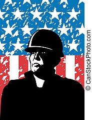 アメリカ人, 軍隊