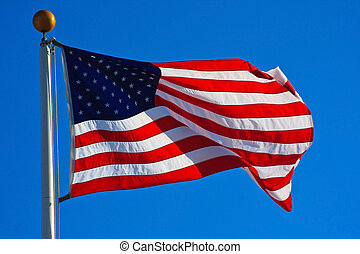アメリカ人, 飛行, 旗