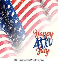 アメリカ人, 7 月4 日, 旗, 背景