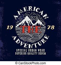 アメリカ人, adventure.print, design.