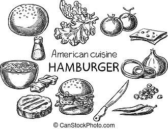 アメリカ人, cuisine.
