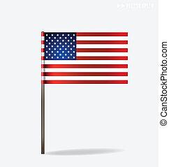 アメリカ人, flag., ベクトル, illustration.