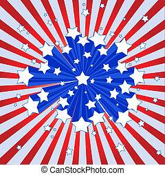 アメリカ人, starburst, 背景