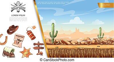 アメリカ西部地方, 概念, 漫画