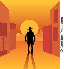 アメリカ西部地方, gunslinger.