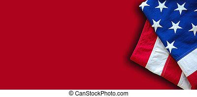 アメリカ, シンボル, 合衆国旗, 光景, 印, アメリカ, 上, 赤, 色