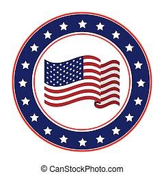 アメリカ, デザイン, emblematic, シール