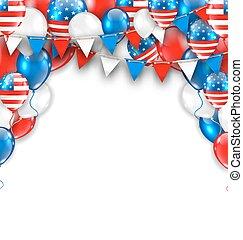 アメリカ, ホリデー, 伝統的である, アメリカ人, 背景, 祝福