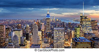 アメリカ, ヨーク, 新しい, 都市