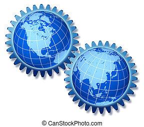 アメリカ, 北, アジア, 協力