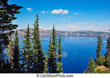 アメリカ, 国民, 湖, 噴火口, 公園, オレゴン