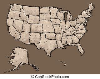 アメリカ, 地図
