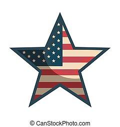 アメリカ, 形, 星