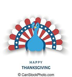 アメリカ, 感謝祭, 日, グリーティングカード, ∥で∥, 漫画, トルコ, bird.