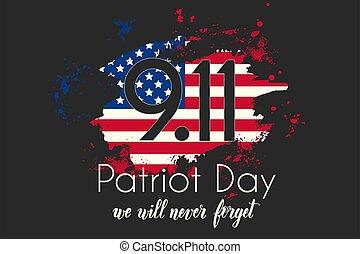 アメリカ, -, 11, 私達, 9.11., 手, 意志, 日, ∥決して∥, poster., 作られた, 愛国者...