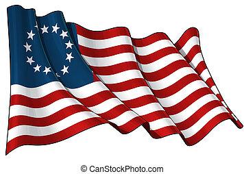アメリカ, betsy ross, 旗