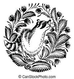 アライグマ, 装飾用である, シルエット