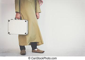 アラビア人, ビジネスマン, 保有物袋