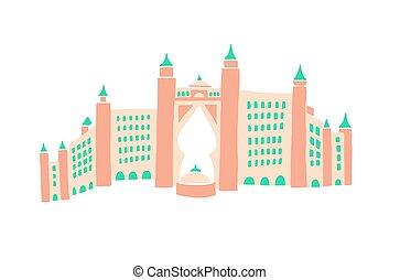 アラビア人, 合併した, 図画, 手, スケッチ, 管轄区域, ホテル, ドバイ