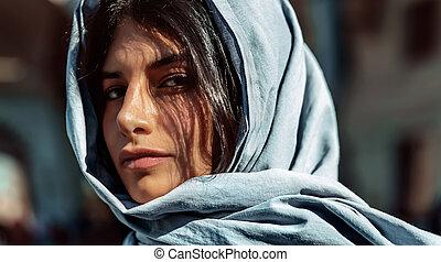 アラビア人, 女の子, 素晴らしい
