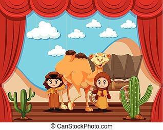 アラビア人, 子供, 2, ステージ