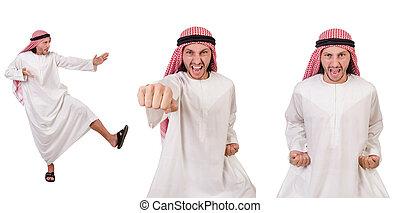 アラビア人, 白, 隔離された, 背景, 人
