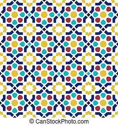 アラビア, パターン, 背景, タイル, モザイク, seamless