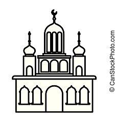 アラビア, 城, タワー, 月