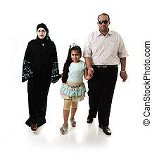 アラビア, 白, 歩くこと, 家族