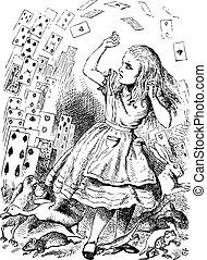 アリス, しかし, 何もない, 不思議の国, パック, カード。
