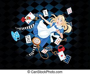 アリス, 落ちる