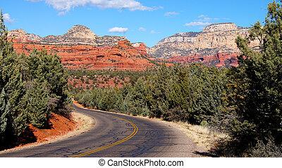 アリゾナ, 山の 景色, 道