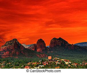 アリゾナ, 日没, 赤
