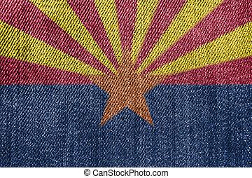 アリゾナ, 産業, ジーンズ, ∥あるいは∥, 織物, 旗, 背景, 政治, デニム, concept: