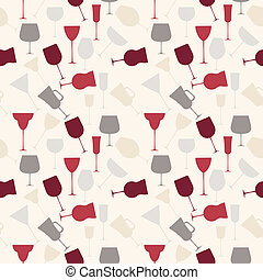 アルコール中毒患者, パターン, seamless, ガラス。, レトロ, 背景
