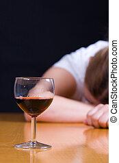 アルコール中毒患者