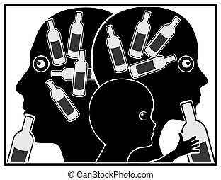 アルコール中毒患者, 子供, 親
