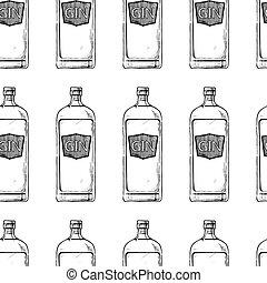 アルコール, びん, パターン