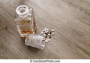 アルコール, びん, 丸薬