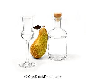 アルコール, びん, fetel, ナシ, ガラス, 減少させなさい