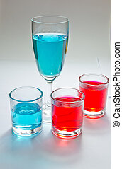 アルコール, カラフルである, ガラス
