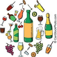 アルコール, 飲料, カクテル, 飲み物