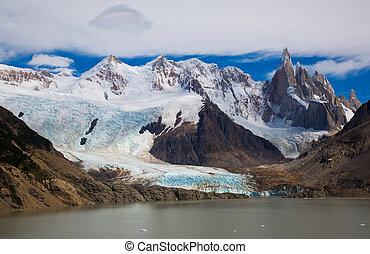 アルゼンチン, cerro, roy, 湖, andes, torre, フィート, fitz