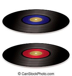アルバム, レコード, lp, 平ら