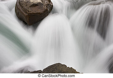 アルバータカナダ, sunwapta, 滝