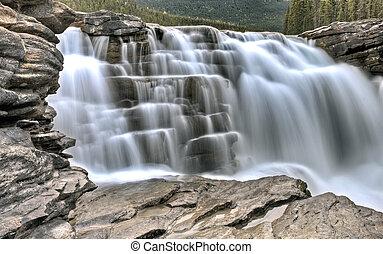 アルバータ, athabasca, カナダ, 滝