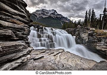 アルバータ, athabasca, 滝