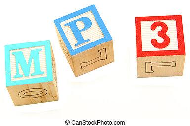 アルファベットブロック, mp3