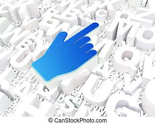 アルファベット, カーソル, 広告, 背景, マウス, concept: