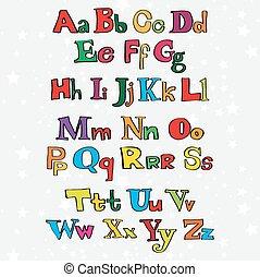アルファベット, クリスマス, 漫画